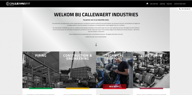 website Callewaert industries